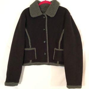Fjallraven jacket brown polertec fleece
